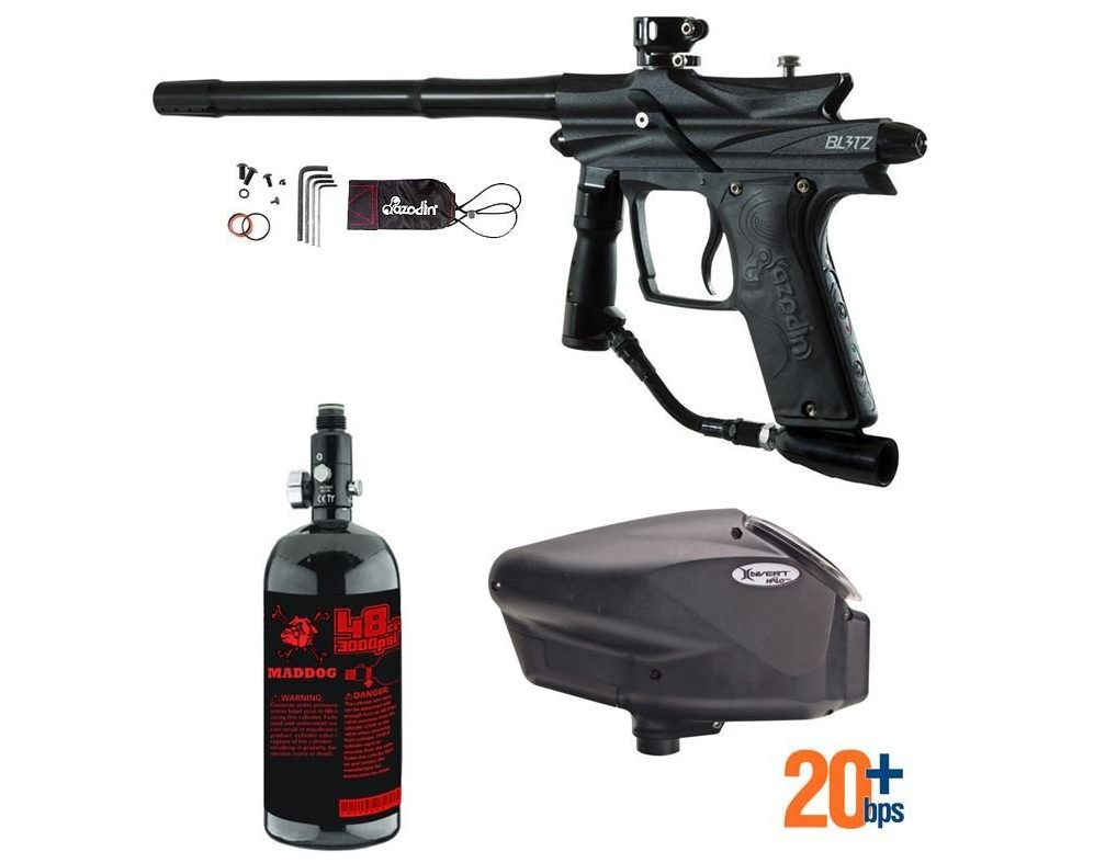 MAddog Azodin Blitz 3 HPA Paintball Gun Review